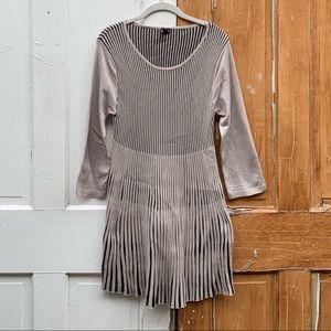 Lapis accordion pleat knit dress Size Large
